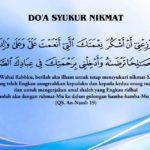 doa-syukur-nikmat percikan iman