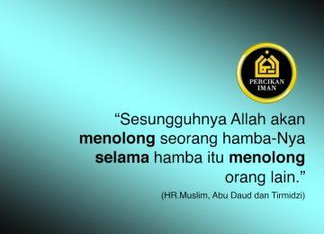 hadist tolong menolong kepada orang lain percikan iman