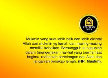 muslim kuat dan bermanfaat untuk orang lain percikan iman