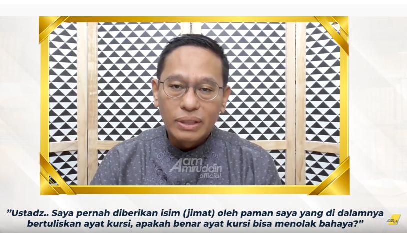 tanya jawab jimat dalam islam aam amiruddin percikan iman